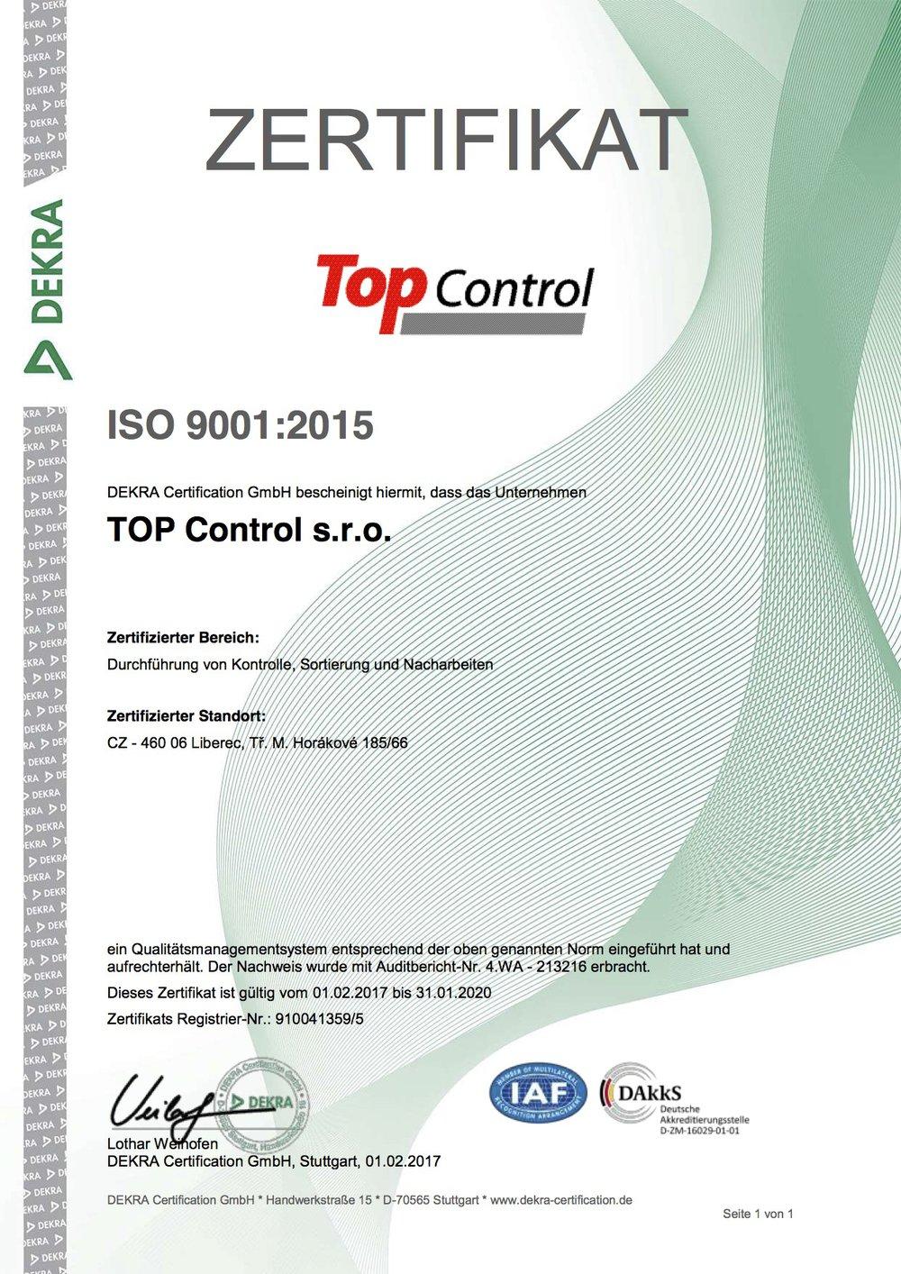 ISO 9001_2015 DE_TOP Control